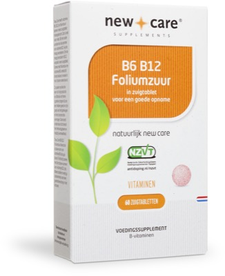 New care b6 b12 foliumzuur 60 zuigtabletten p791