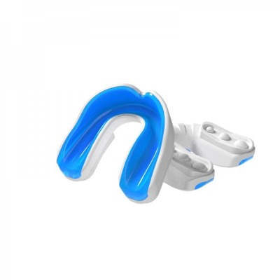Multisports gel mouthguard white blue youth p1140