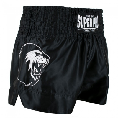 Super pro kickboksbroek hero zwart wit p1209