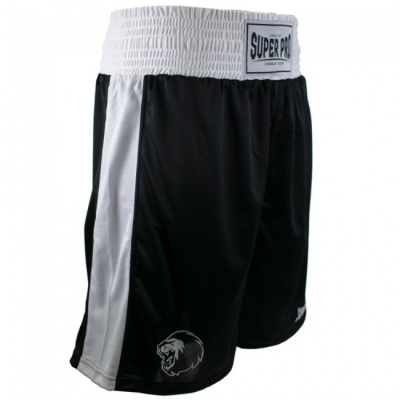 Super pro club boksshort zwart wit p1220