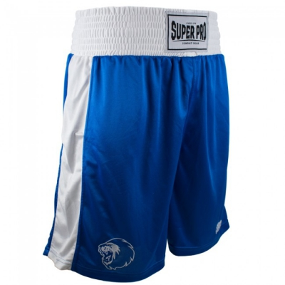 Super pro club boksshort blauw wit p1221