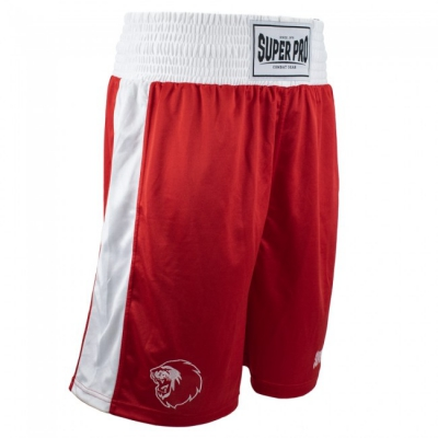 Super pro club boksshort rood wit p1222
